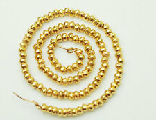 Karen hill tribe 24k Gold  Vermeil Style  120 Solid Seed Beads 1.8 mm.