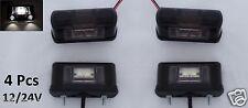 4x LED Lichter Vordere Hintere License Nummernschild Lampe Auto LKW