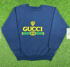 Vintage Bootleg Gucci 90s Puff Print Crewneck Sweater Hoodie Made in USA Size M