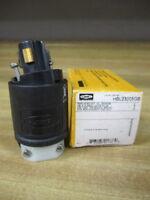 Hubbell HBL-23005GB Lock Plug 20A/125V 10A/250V
