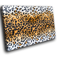 A398 Leopard Fur Coat Skin Red Funky Animal Canvas Wall Art Large Picture Prints