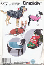 SIMPLICITY SEWING PATTERN 8277 S-M-L DOG CLOTHES - COATS & HATS IN THREE SIZES