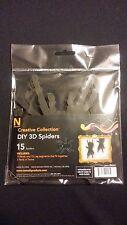 Halloween Decorations Neenah Creative Collective 15 DIY 3D Black Paper Spiders