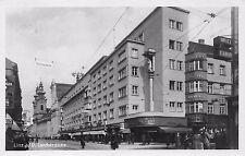 AK Linz a. D. Landstrasse Geschäfte Haltestelle Echt Foto Postkarte vor 1945