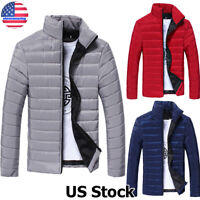 Men's Puffer Bubble Down Coat Jacket Lightweight Quilted Padded Overcoat Outwear