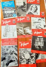 9 Very Early O Gager & Model Railroading Magazines