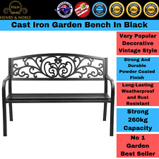 Garden Bench Seat Outdoor Chair Steel Iron Patio Furniture Lounge Porch Lounger