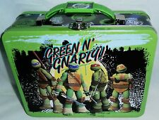 """TMNT GREEN AND NARLY!!!! Lunch Box by The Tin Box Co 7.50"""" X 6""""x 2.75"""""""