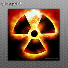 Radioactive Atomic Bomb Sticker - Car Truck vinyl decal radiation symbol Zombie