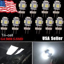 10X G4 Super White 5 LED SMD 5050 RV Camper Marine Boat Light Bulb Lamp DC12V US