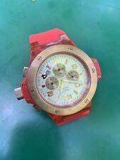 Mulco Titans Chronograph Grey Dial Red Silicon Strap Unisex Watch MW2-9619-063