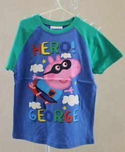 NEW Hero George T-shirt Size 5 - Blue & Green - Peppa Pig BNWT Tshirt / Tee