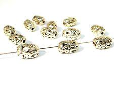 Metallperlen facettierte Spacer Silber 10 Stück #U60