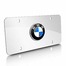 BMW OEM FACTORY LICENSE PLATE POLISHED STAINLESS ROUNDEL PLATE 82121470314