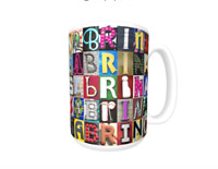 SABRINA Coffee Mug / Cup featuring the name in photos of sign letters