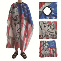 Waterproof Cutting Haircut Salon Barber Cape Hairdressing Apron America flag HF