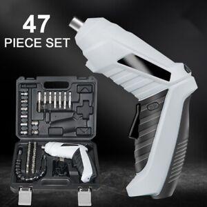 LED Elektro Akkuschrauber, klein, 47pc Set mit Koffer und Bits, 3.6V /1300mAH DE