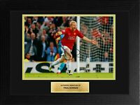 Paul Scholes Manchester United Football Framed Signed Autograph Photo COA