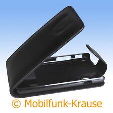 Funda abatible, funda, estuche, funda para móvil para LG e460 Optimus l5 II (negro)