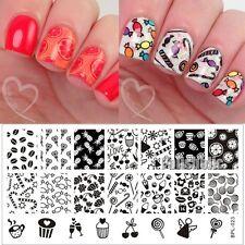 Plantilla de sello de Arte en Uñas Candy Magdalena imagen Stamping Placa BP-L023 12.5 X 6.5cm