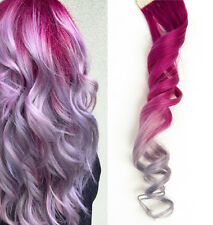 40x Tape in Skin Pink Metallic light Purple Lavender Ombre Human Hair Extensions