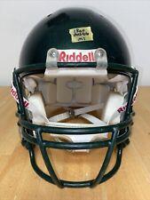 Riddell Revo Adult M Football Helmet (Metallic Hunter Green W/ HG FM)