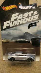 2018 HOT WHEELS FAST AND FURIOUS 2009 NISSAN GT-R  FASTFIVE 5/6