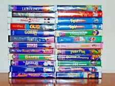 Disney VHS Lot of 24 Movies, Black Diamond, The Classics and More