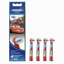 4 x Oral-B Disney Cars Stages Power Kids Replacement Electric Toothbrush Heads