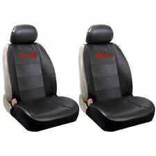 New 2pc Elite Style Synthetic Leather Front Black Truck Suv Seat Covers for GMC