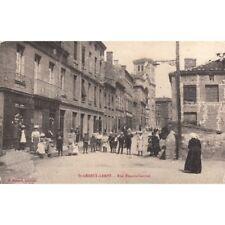 Cartes postale anciennes SAINT-GENEST-LERPT rue francis-garnier écrite