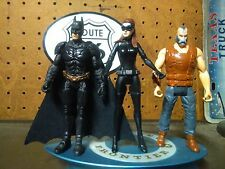 DC Comics Dark Knight Rises Batman, Bane & catwoma. Loose Action Figures 4in