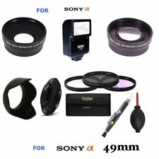49MM ALL YOU NEED ACCESSORY KIT FOR SONY ALPHA A5000 A6000 LENSES FLASH FILTER