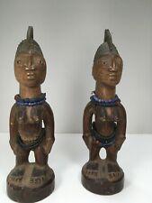 Yoruba Ibeji pair, Nigeria Vintage African Art