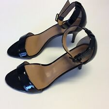 TALBOTS Black Patent Leather Sandals Size 7.5