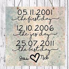 Personalizado Pareja Boda Aniversario Placa de Día de San Valentín Regalo Presente