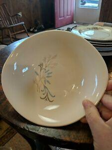 Vintage Harkerware floral elegant design Oval  Bowl 7 1/2 x 1 3/4
