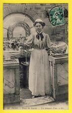 cpa Auvergne Ecrite en 1914 VICHY Allier PALAIS des SOURCES Une Donneuse d'EAU