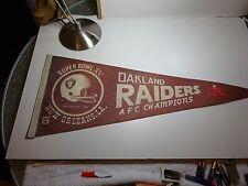 Vintage 1-25-1981 Oakland Raiders NFL Super Bowl 15 XV AFC Champions Pennant