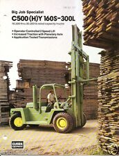 Fork Lift Truck Brochure - Clark - C500(H)Y 160S-300L - 1973 (Lt102)