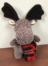 Russ Home Buddies Moose Red Scarf Plush Terry Cloth Stuffed Bean Bag Animal