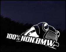 Mini 100% non BMW Car Decal Sticker JDM Vehicle Bike Bumper Graphic Funny