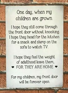 One Day When My Children Are Grown Sign Family Words Of Sentiment Metal Sign