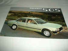 Peugeot 505 range brochure 1980