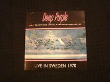DEEP PURPLE - Live In Sweden 1970 - 1992 CD / VG+/ Ian Gillan  / Hard Rock Metal