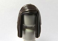 Lego 1 Hair Wig For Female Girl Minifigure  Long Straight Dark Brown