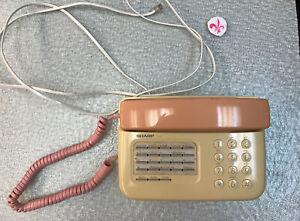 Sharp Telephone Line Table  Model TP-200(p) Pink/Beige Vintage w/line useable