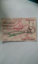 IRON MAIDEN STEVE HARRIS signed British Lion ticket stub. Very rare solo tour