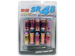 MUTEKI SR48 20PCS EXTENDED WHEELS TUNER LUG NUTS (OPEN END/12X1.5/NEON CHROME) +