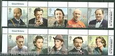Great Britain 2013 Great Britons Set Of Ten Mint Nh